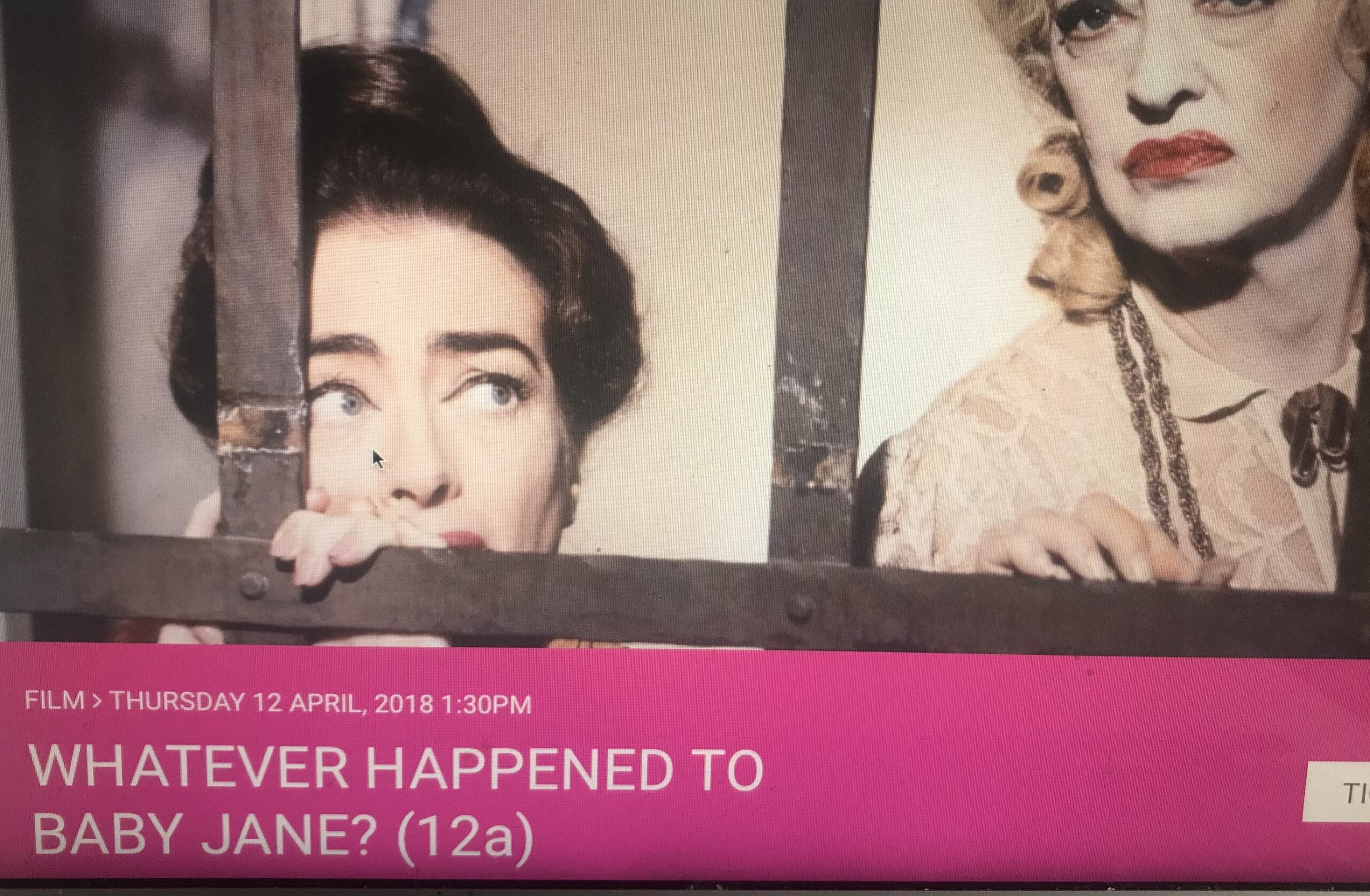 Helen Presents Whatever Happened To Baby Jane At Bridport's Page To Screen Festival